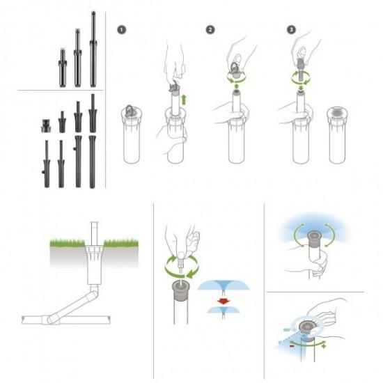 Aspersor spray Pros-04 Hunter, ridicare 10 cm
